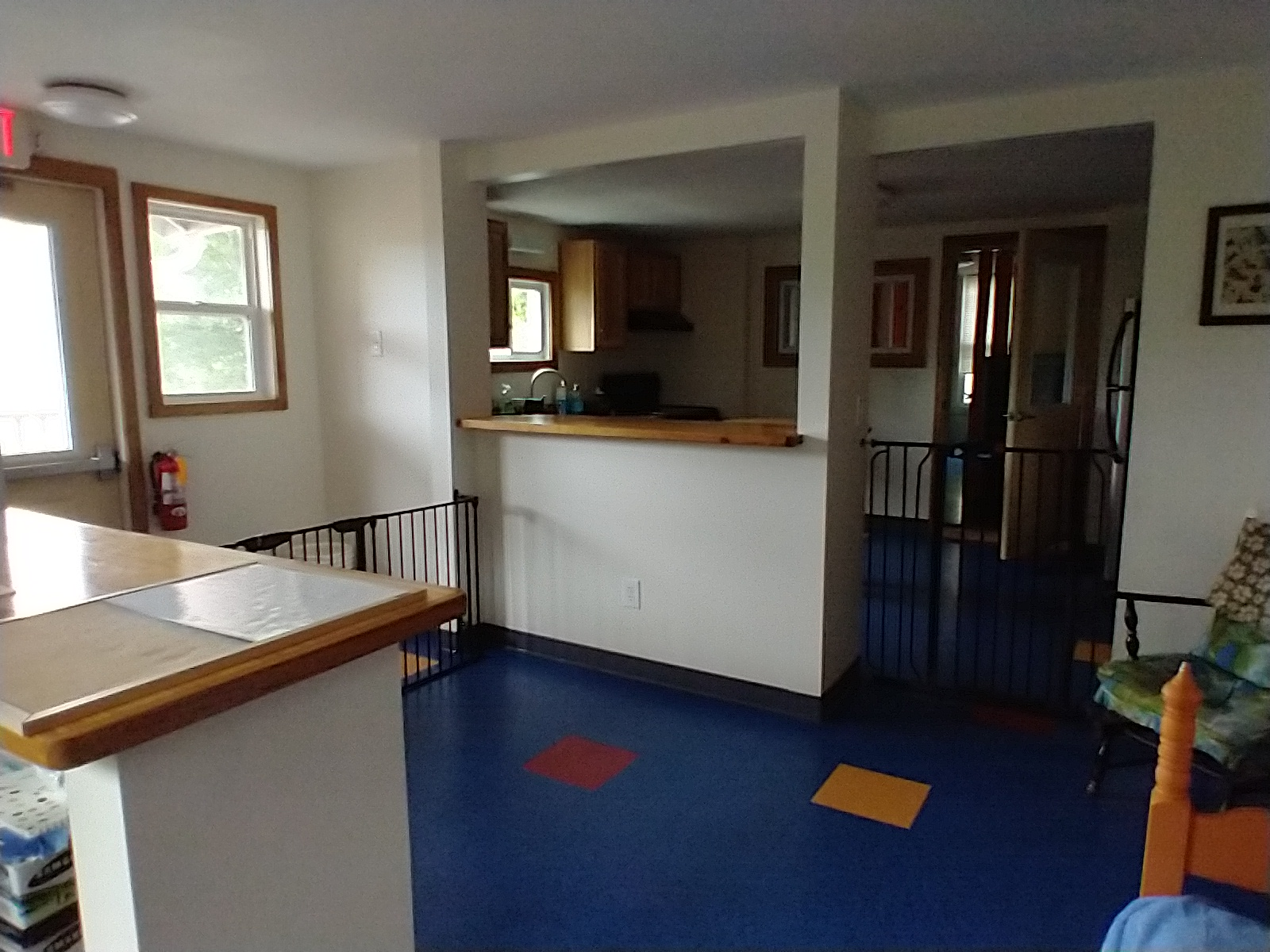 Looking from office to kitchen